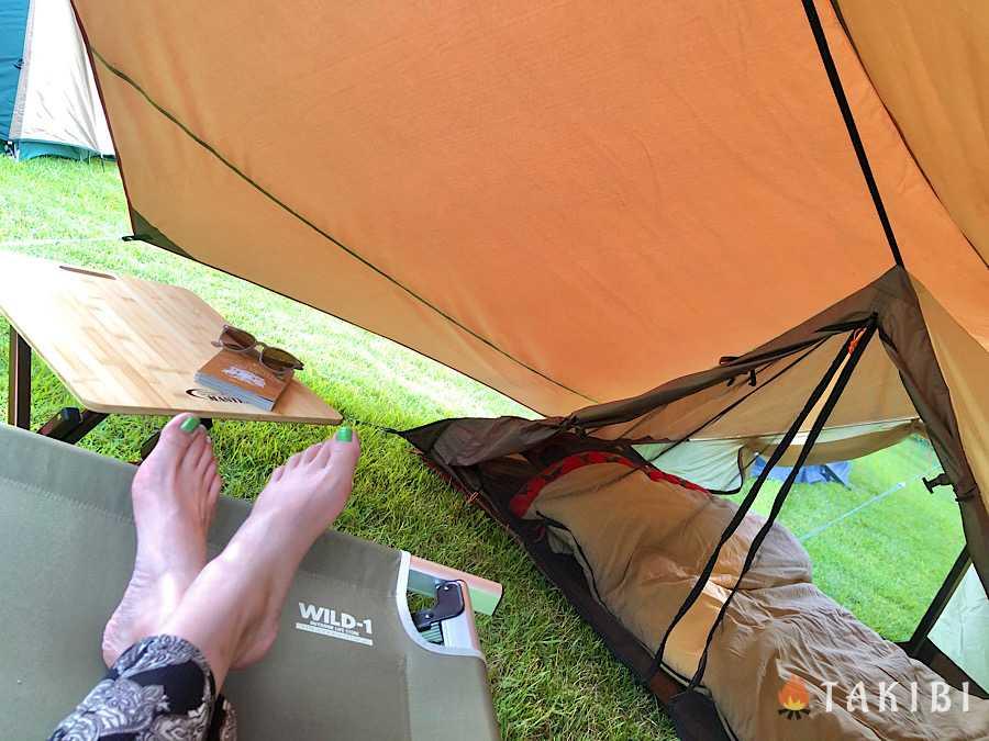 涼しく過ごそう!夏キャンプの暑さ対策,スクリーンタープやインナーテントで寝る